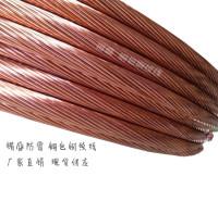 供应机场防雷接等材料 铜包钢接地线 接地镀铜钢绞线 多股铜包钢线厂家直供