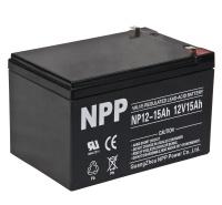NPP耐普NP15-12蓄电池 12V15AH UPS电源电子仪器免维护铅酸电瓶电梯应急医疗照明门禁
