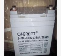 格瑞特蓄电池6-FM-33正品12V33AH机房 消防EPS直流屏 UPS应急电源