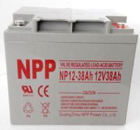NPP 耐普蓄电池NP12-38 太阳能免维护蓄电池 12V38AH UPS电源机房逆变器核电站路