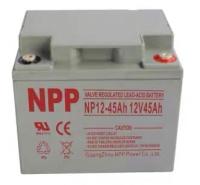 NPP耐普蓄电池NP12-45ah 12v45ah消防主机后备电源太阳能发电储能太阳能路灯电力机房发