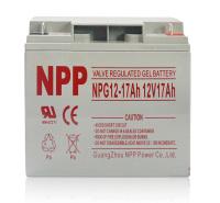 NPP耐普蓄电池12V17ah NP12-17 UPS电源直流屏消防柜储能光伏电池电梯消防医疗应急门