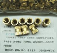 苏州黄铜螺母 热融铜螺母滚花铜螺母圆型直纹花铜螺母M3/M4/M5/M6