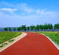 彩色透水道路地址  彩色透水地坪费用 彩色透水道路胶结料 四川日晨