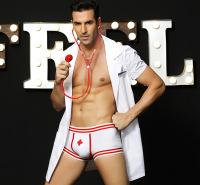 跨境专供外贸男士情趣内衣扮演男护士情趣制服诱惑内裤情趣套装