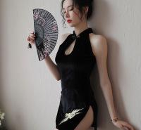 厂家直销情趣内衣性感旗袍开叉透明诱惑睡衣OL套装情趣睡衣代发