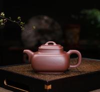 宜兴紫泥半手工工艺品紫砂壶蔡顺祥 混四方 AB9012