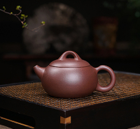 宜兴紫泥半手工工艺品民间艺人 圆明壶 紫砂壶BA80G3