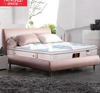 天然乳胶床垫 竹炭纤维棉床垫厂家 独立袋装弹簧床垫价格
