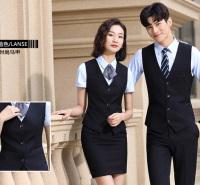 女士包裙 套裙工装 商务职业装 气质时尚V领 无袖马甲夏季正装可定制
