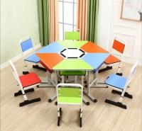 环保学习桌 中小学生彩色幼儿园梯型升降书桌 美术绘画桌桌椅组合批发