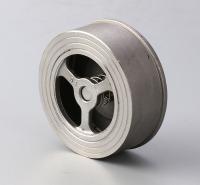 超薄旋启式止回阀 H71升降式不锈钢静音对夹式止回阀定做