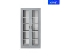 玻璃对开文件柜 不锈钢文件柜  办公室档案柜 不锈钢资料柜佰锐德