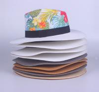 厂家长期定制生产创意款可爱印花小礼帽 韩版新款儿童帽旅游沙滩遮阳防晒草帽