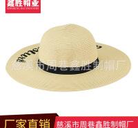 定制户外观光旅游帽遮阳草帽纸编草帽时尚休闲帽