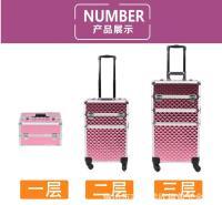 现货1280多功能拉杆箱 美甲箱 多层箱 化妆箱 专业 家用化妆箱