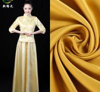 厂家直销100色 50D*75D哑光色丁 缎面仿真丝裙装时装礼服面料里布