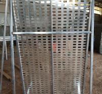 新款洞洞板展示架 地砖展示架 冲孔网装饰展板厂家