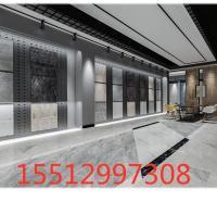 墙面冲孔板展示架 瓷砖门店展示架 黑色烤漆铁质展架定制厂家