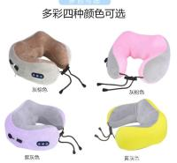 现货供应企鑫便携式u型按摩枕 新款颈部按摩枕 多功能肩颈电动充电按摩枕 按摩披肩厂家直销