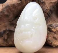 脂白和田玉籽料 羊脂貔貅 瑞兽纳福