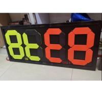 换人牌 裁判用足球比赛换人牌荧光设计 四位手动换号
