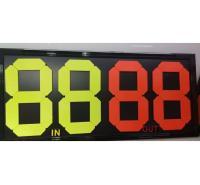 换人牌 足球比赛换人牌 4位双面荧光显示 四位两位手动换号翻号计分牌