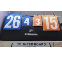 新鲸软壳记分牌 4位记分 手翻四位便携记分牌 篮球乒乓球竞赛计分牌