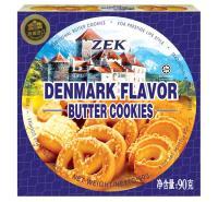 ZEK 丹麦风味 90g 黄油曲奇饼干 蓝色(单位:盒)