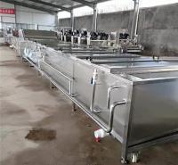 厂家直销海产品漂烫冷却流水线 八爪鱼 扇贝 海虹蒸煮机 不锈钢材质质量可靠