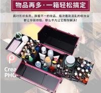 定制大容量工具箱两层工具箱铝合金工具箱美容工具箱经久耐用