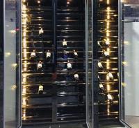佛山不锈钢酒柜 不锈钢恒温酒柜定制 不锈钢置物架 标艺不锈钢厂家