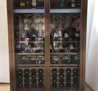 不锈钢酒柜定制 不锈钢酒柜展示柜 不锈钢恒温酒柜储物柜 标艺不锈钢厂家