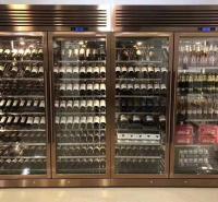 佛山不锈钢酒柜厂家 不锈钢酒柜酒架 不锈钢恒温酒柜定制 标艺不锈钢厂家