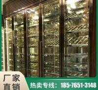 酒柜定制 不锈钢储酒柜 金属不锈钢酒柜 酒店专用 私人订制