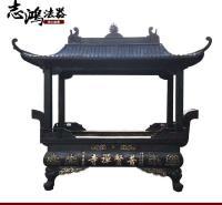 定制大铜钟寺庙铜钟 寺院喇叭口铜钟 温州志鸿厂家