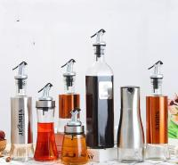 【厂家直销】批发_500ml酱油瓶_玻璃油壶厨房用品_250ml不锈钢油瓶醋瓶酒瓶创意调味瓶