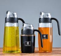 创意玻璃油瓶厨房自动开合油壶可控大容量酱油醋瓶调料调味瓶带盖