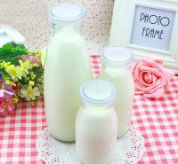 【厂家直销】旭淼批发_100ml耐高温酸奶玻璃瓶_奶吧专用200ml牛奶瓶_500ml多尺寸可选定制