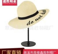 厂家现货出售户外观光旅游帽遮阳草帽纸编草帽时尚休闲帽