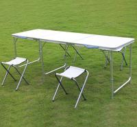 便携式户外铝合金折叠桌椅子户外休闲桌椅套装 1米8 野外折叠餐桌