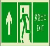 安全出口指示牌 夜光地贴墙贴 提示标识 楼梯安全通道紧急出口疏散指示贴