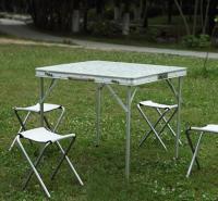 家用折叠小桌子简易折叠桌 摆地摊折叠桌子 铝合金折叠四方桌80cm