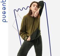 淳度2020新款长袖睡衣女秋冬家居服可出门休闲套装珊瑚绒居家服