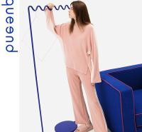 淳度女士睡衣可外穿2020新款秋冬薄款珊瑚绒家居服圆领套头居家服