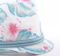 定制2019儿童帽子夏季儿童小礼帽 印花儿童帽子男女宝宝潮小礼帽