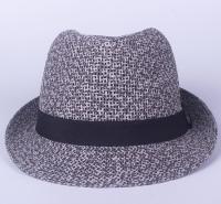 厂家长期定制出售创意款织麻绳小礼帽爵士帽男英伦小礼帽色遮阳帽卷边巴拿马草帽