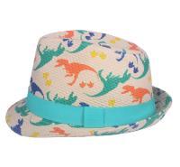 厂家定制出售儿童太阳帽 韩版亲子遮阳帽卷边圆顶帽翻边沙滩礼帽印花爵士帽