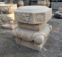 石雕柱顶石 顶柱石 柱墩仿古大理石柱压顶石石柱脚