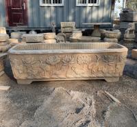 石雕汉白玉仿古做旧花盆鱼缸 庭院园林装饰摆件
